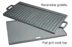 Cast Iron Reversible Griddle & Flat Grill Cook Top