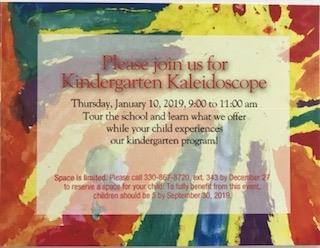 Kindergarten Kaleidoscope 2019