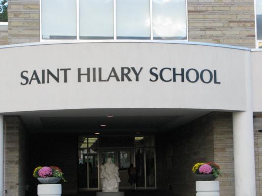 main door sign